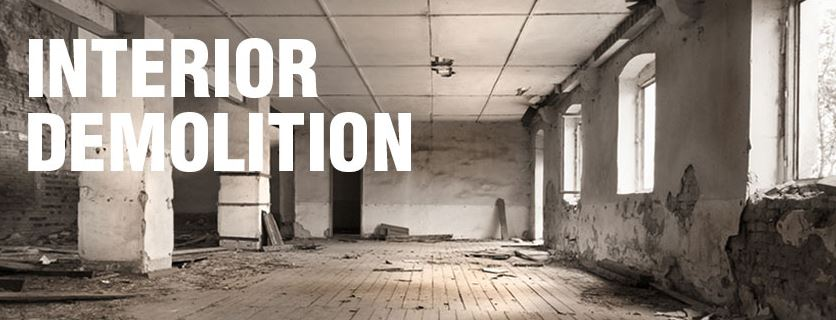 Charming Interior Demolition Room Partially Gutted Out